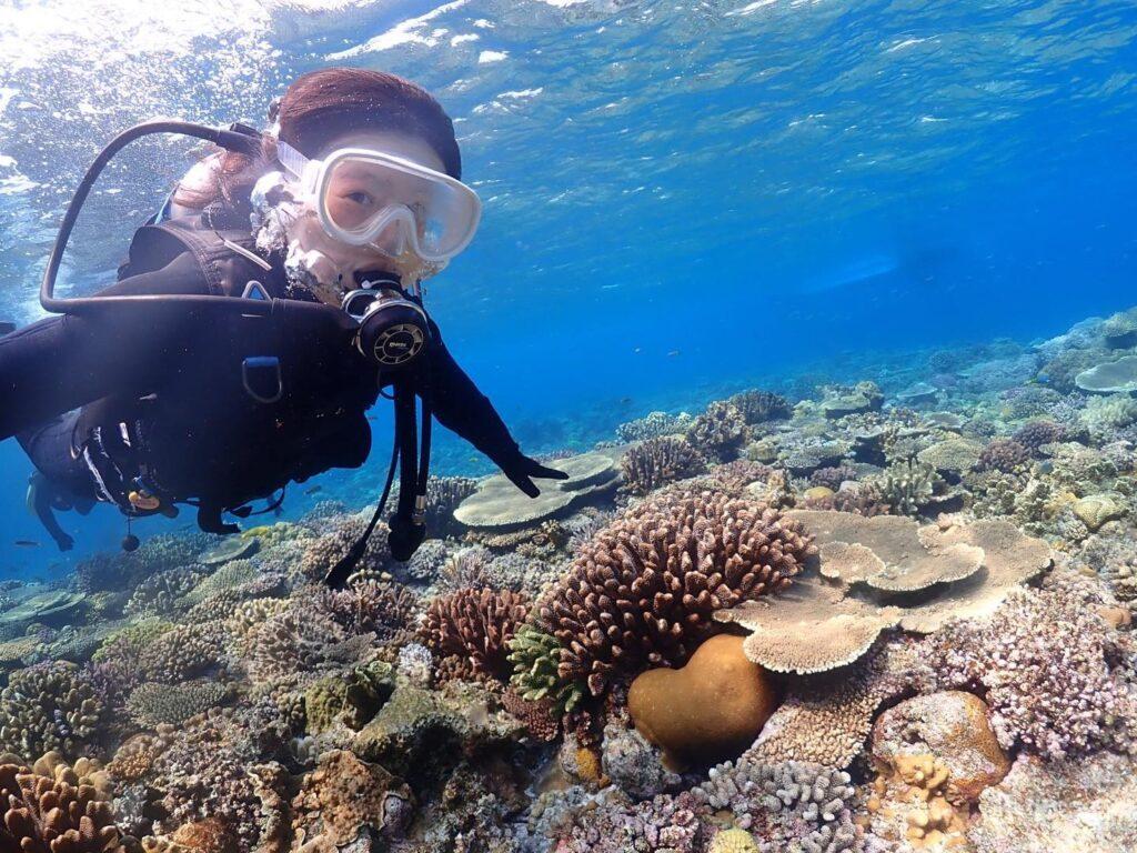 水納島,体験ダイビング,ツアー,友達と,カップルで
