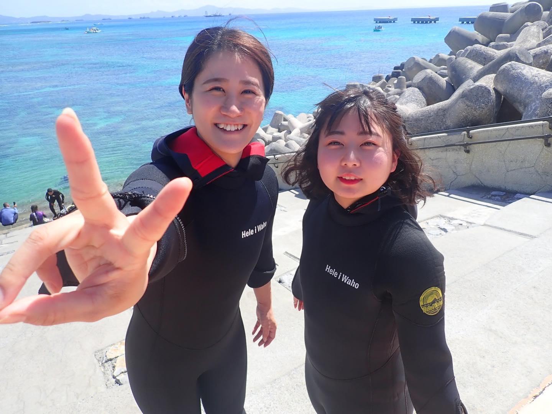 水納島で体験ダイビング!<ボートエントリー>(No.605)