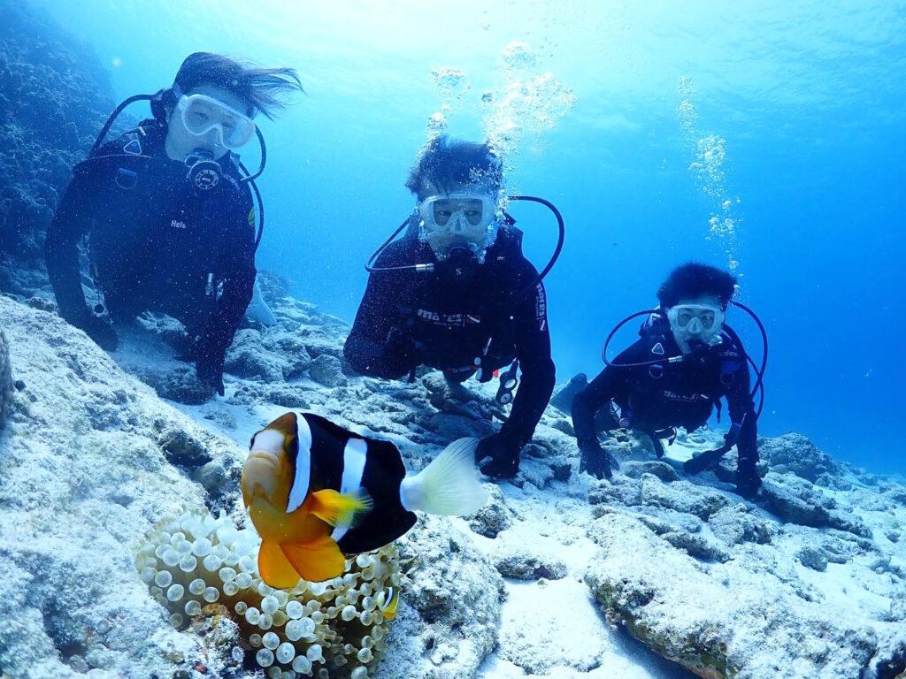 水納島,体験ダイビング,ツアー,友達と,カップルで,家族で
